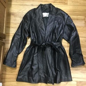 Excelled Leather Coat